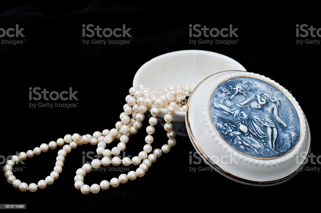 Porcelain Jewelry Box royalty-free stock photo