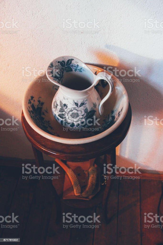 porcelain jug stock photo