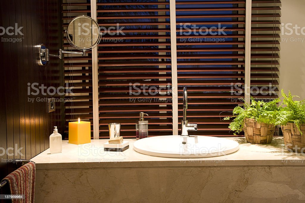 Porcelain modern sink royalty-free stock photo