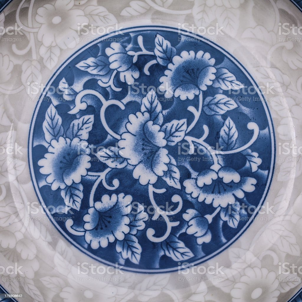 Porcelain pattern royalty-free stock photo