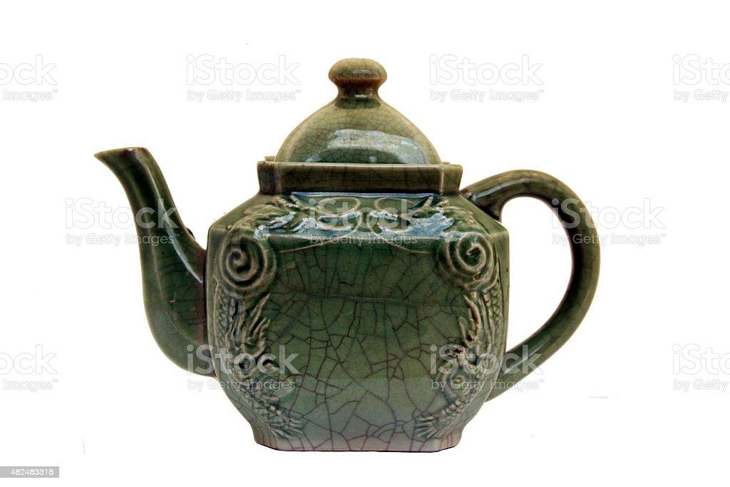 porcelain tea pot stock photo