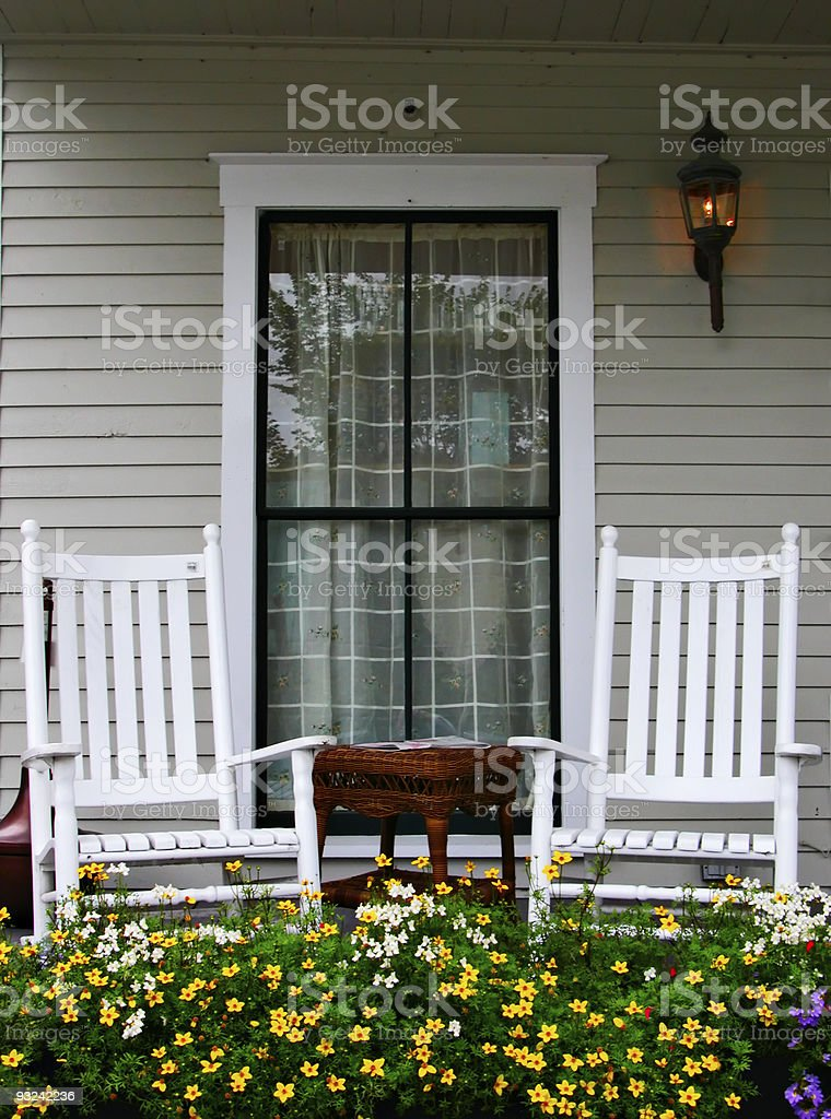 Porch and Chairs stock photo