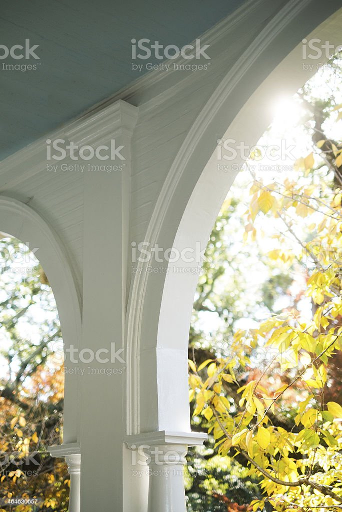 Porch Arches stock photo