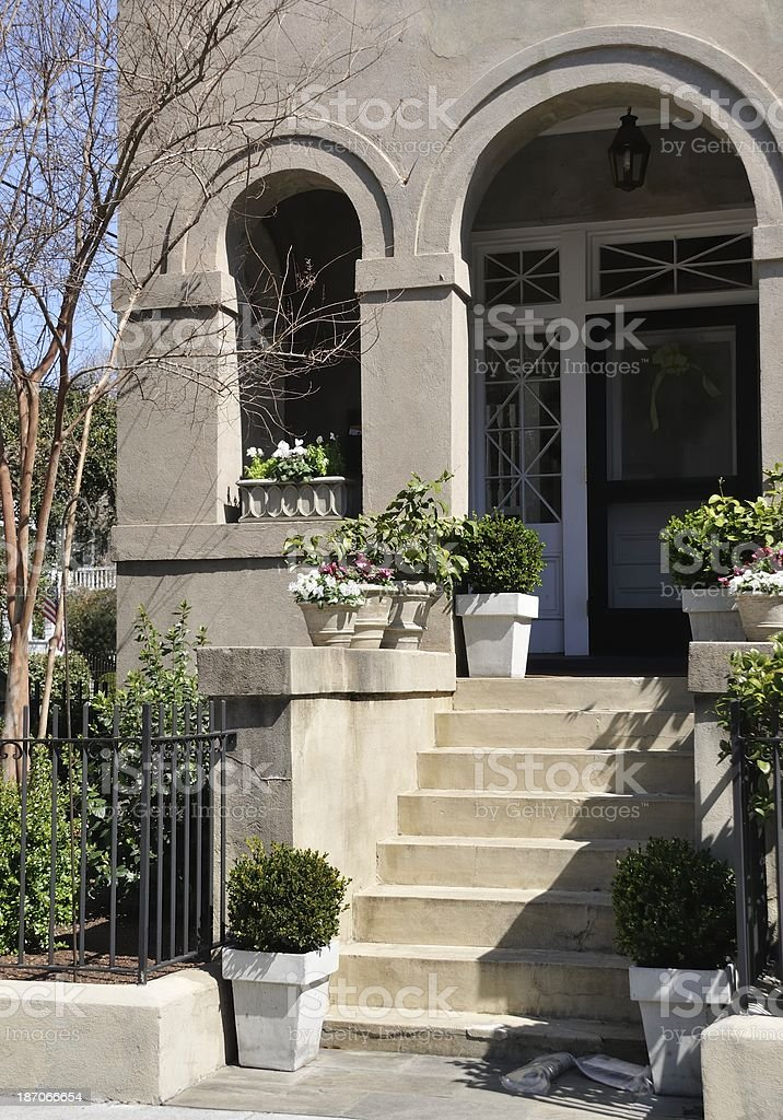 Porch, Charleston, South Carolina royalty-free stock photo