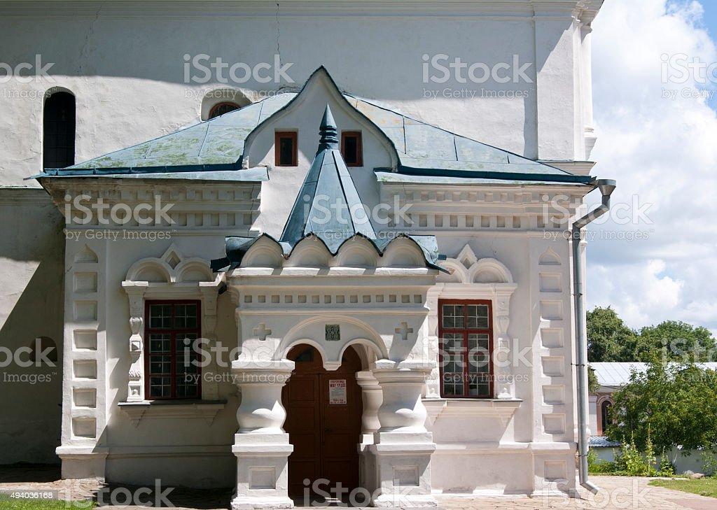 Porch detail of Collegium in Chernigiv stock photo