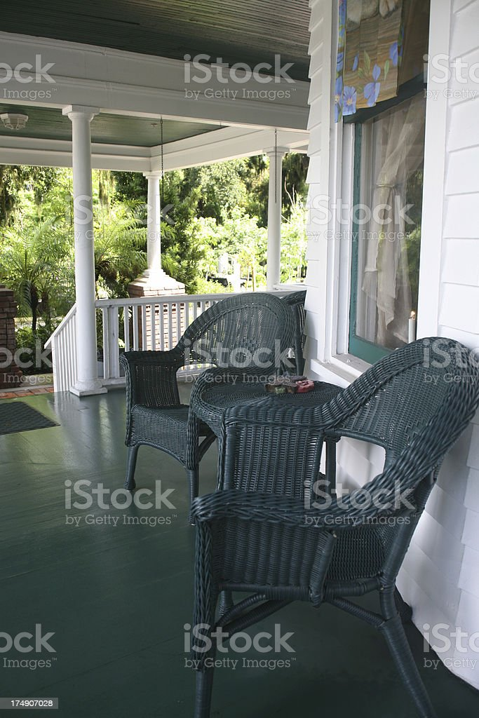Porch in the Old South royalty-free stock photo