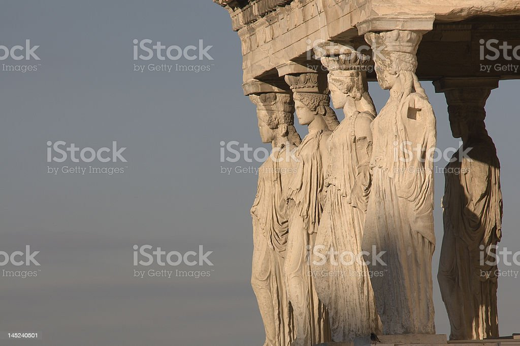 Porch of Maidens stock photo