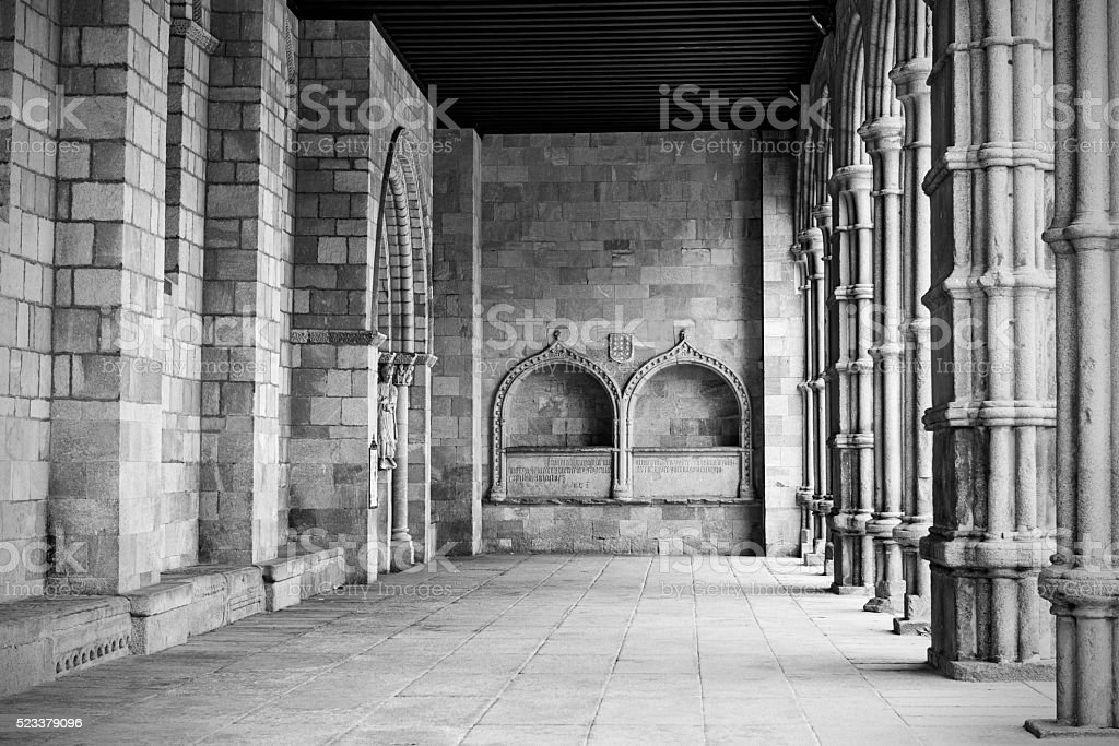 Porch of the Basilica of San Vicente in Avila, Spain stock photo