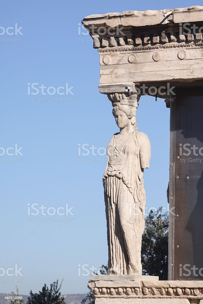 Porch of the Caryatids in Athens, Greece royalty-free stock photo