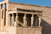 Porch of the Caryatids on Erechtheion temple, Acropolis, Athens, Greece