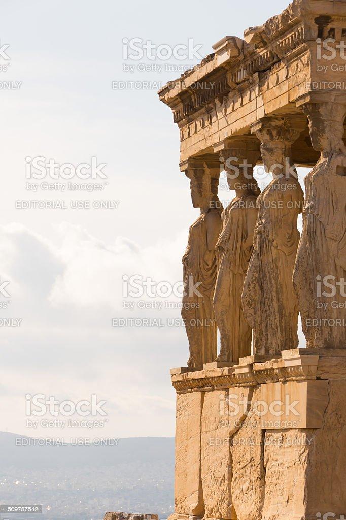 Porch of the Caryatids, Parthenon, Athens, Greece stock photo