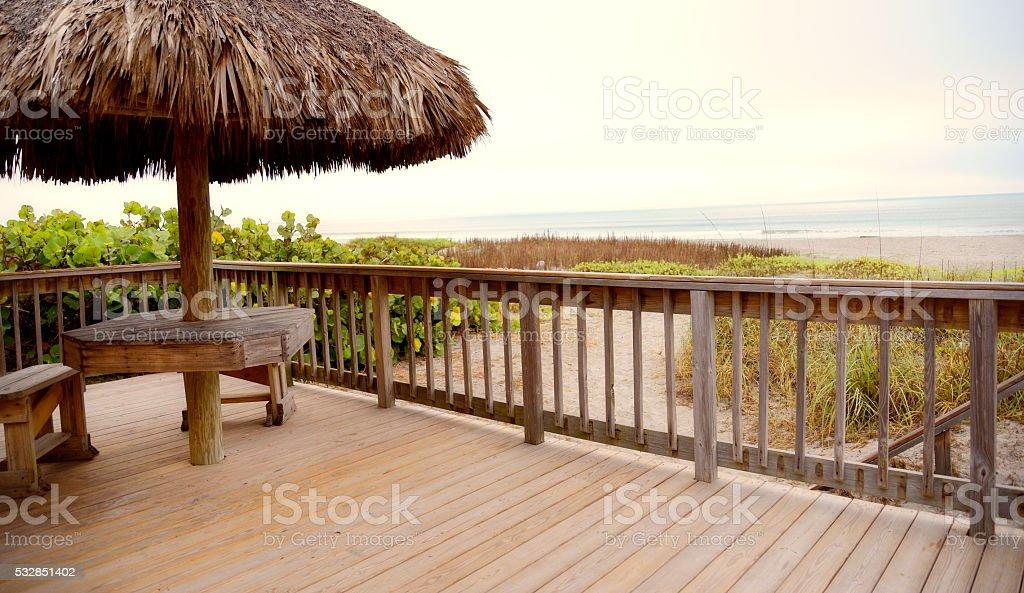 Porch on the beach, Florida stock photo