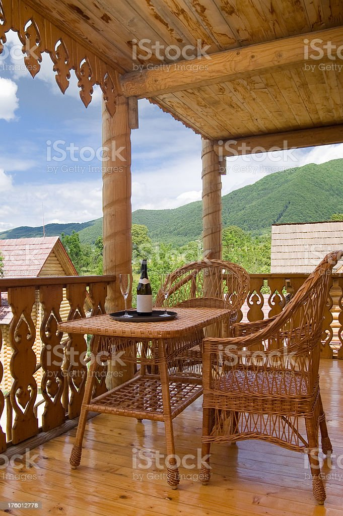 Porch royalty-free stock photo