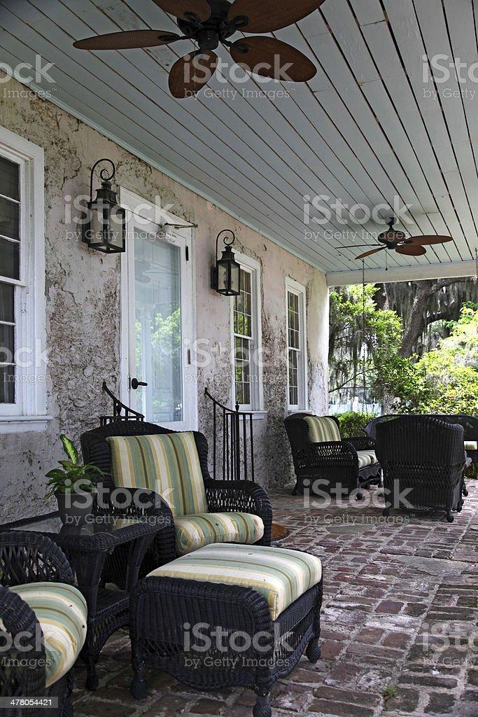 Porch stock photo