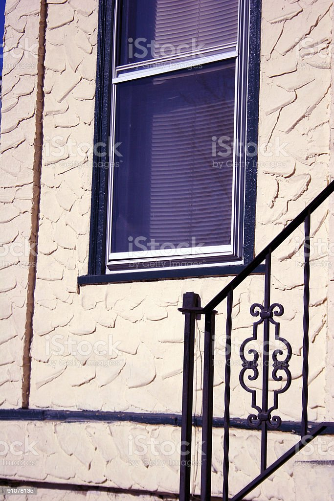 Porch Railing stock photo