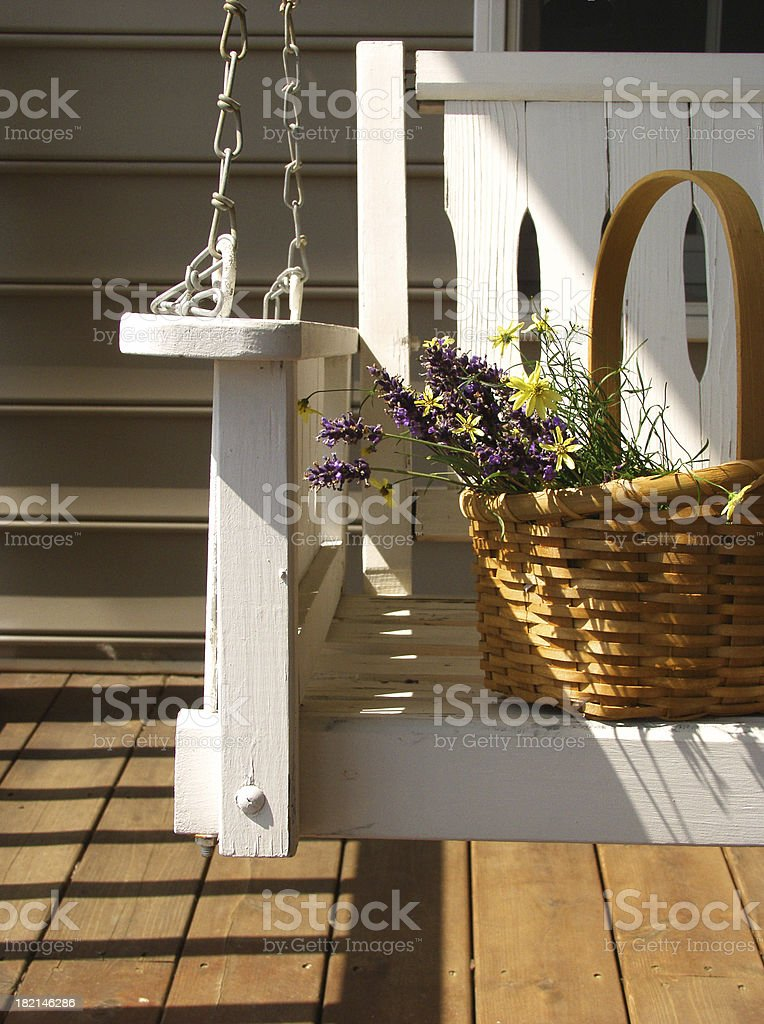 porch swing stock photo