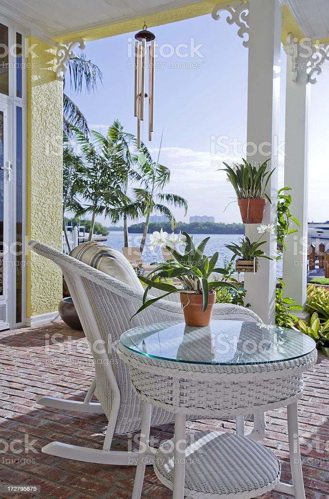 Porch Views stock photo