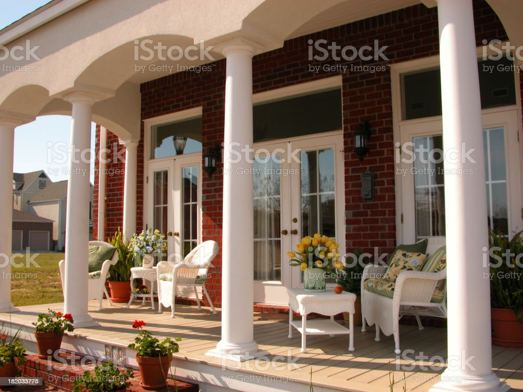 Porch with columns royalty-free stock photo