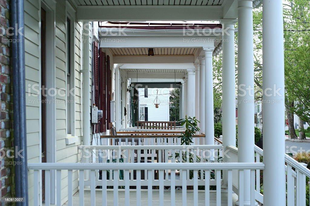 Porches stock photo
