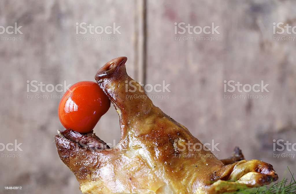 Porchetta stock photo