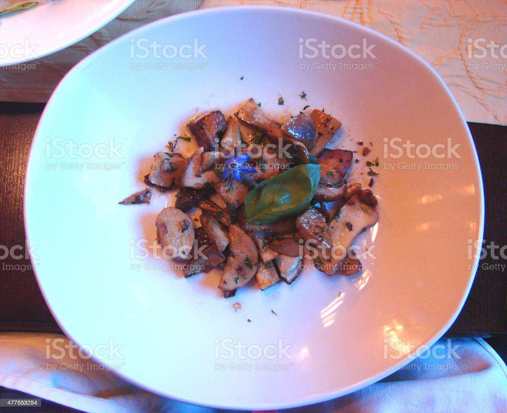 Porcini Mushroom Antipasto stock photo