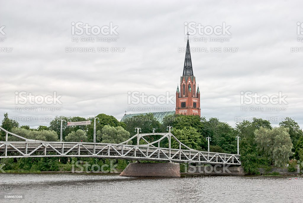 Pori. Finland. Lutheran church in Gothic Revival style stock photo
