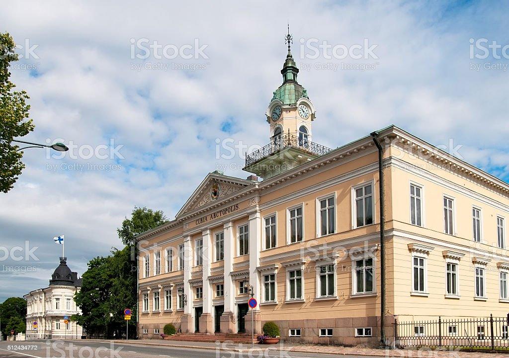Pori. Finland. Old Town Hall stock photo