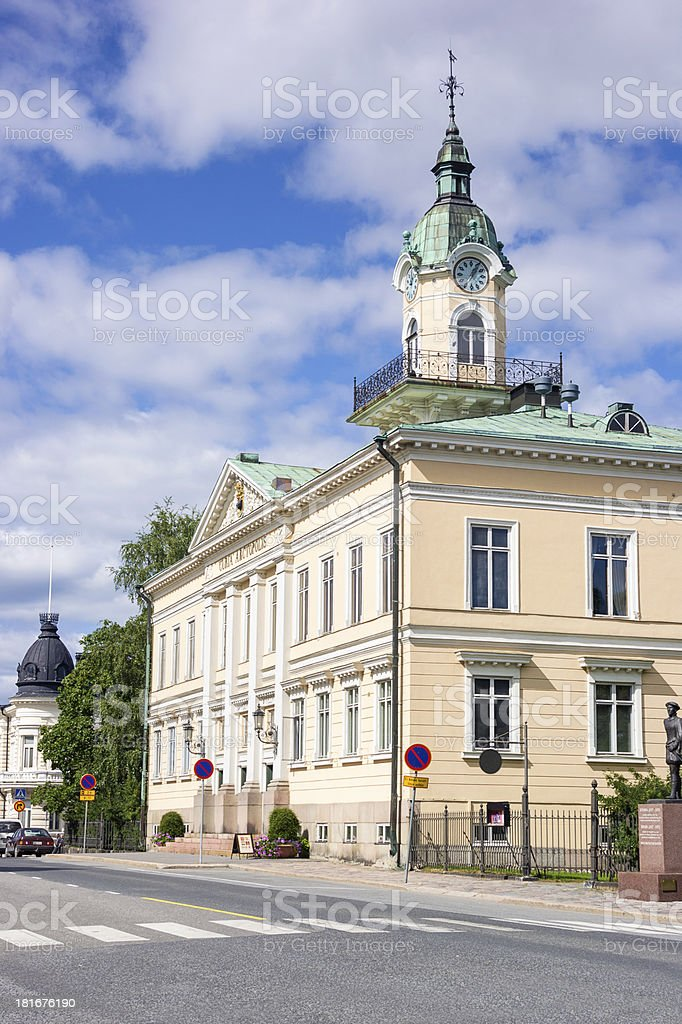 Pori Old Town Hall, Finland stock photo