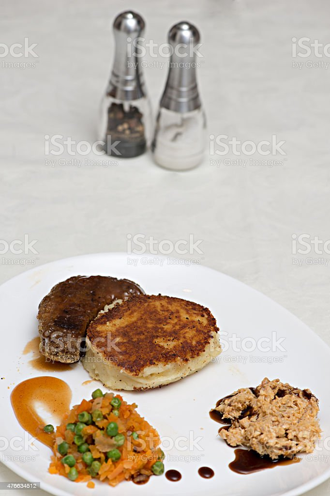 Pork and Crab meat supreme. stock photo