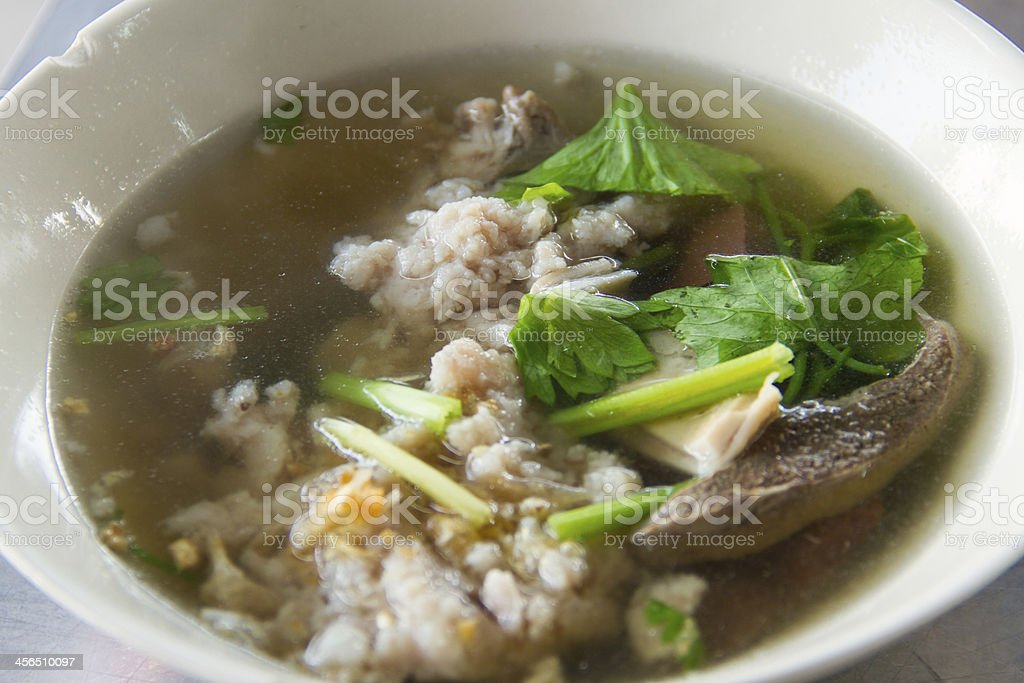 Pork blood soup royalty-free stock photo