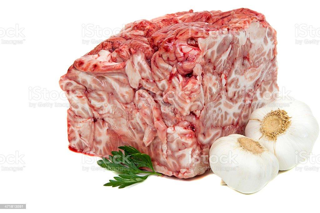 Pork brain royalty-free stock photo