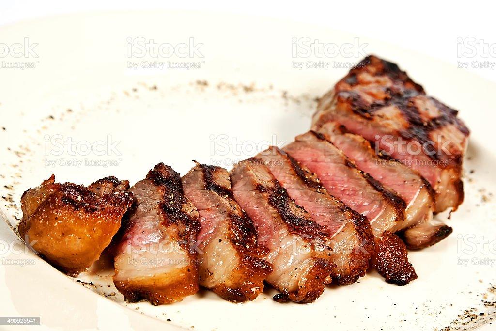 Pork brisket stock photo