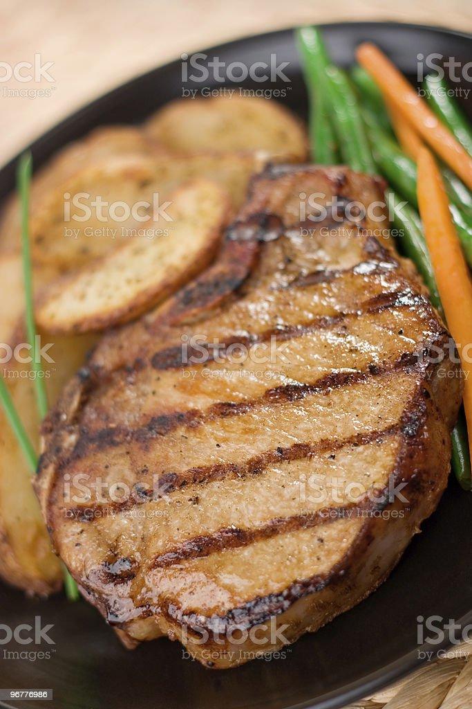 Pork Chop Dinner royalty-free stock photo