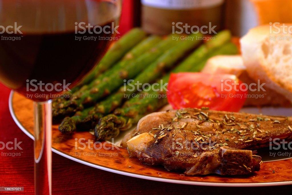 Pork chop meal royalty-free stock photo
