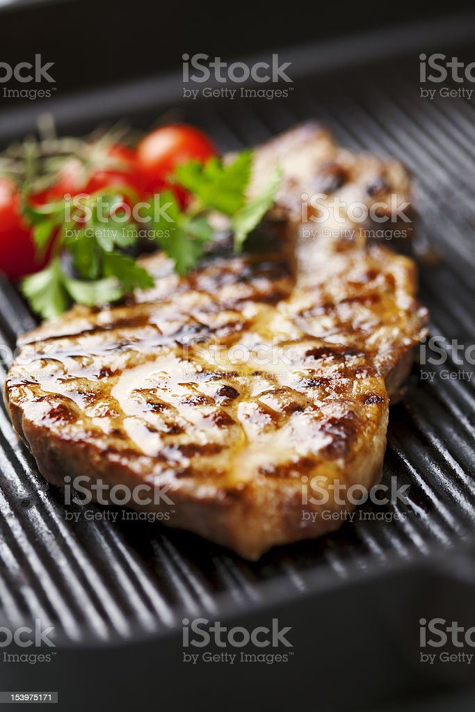pork chop royalty-free stock photo