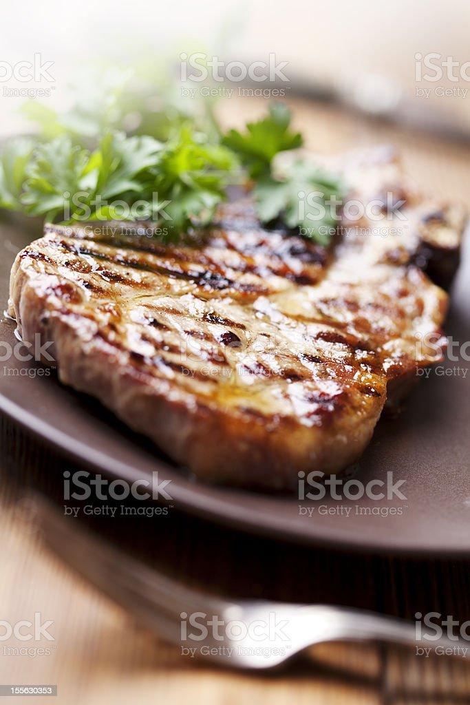 pork chop royalty-free stock photo