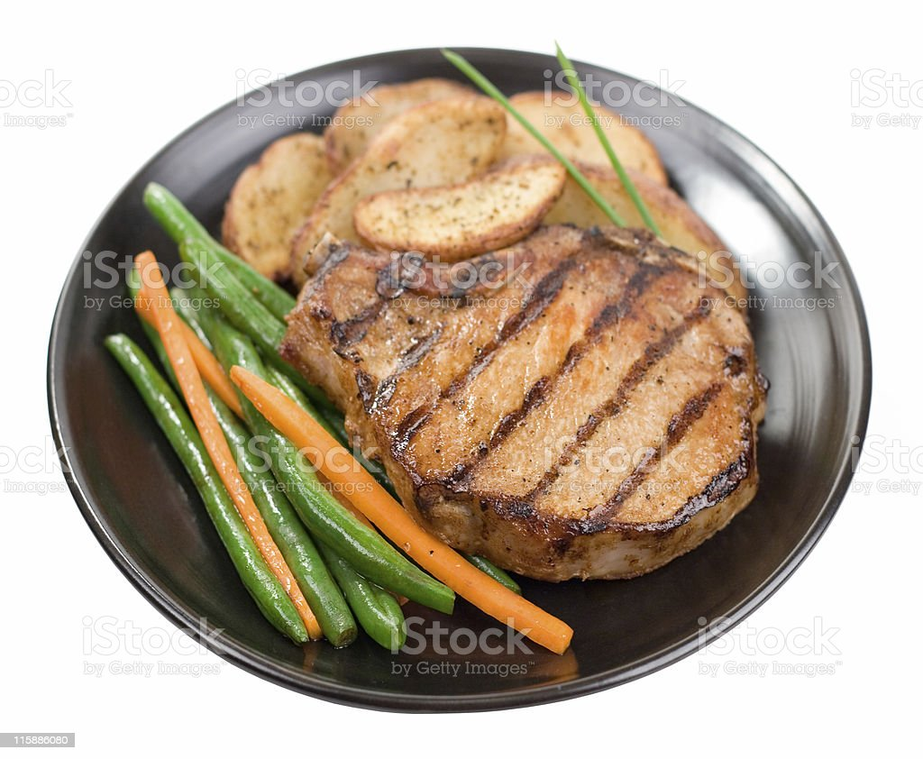 Pork Chop Plate royalty-free stock photo