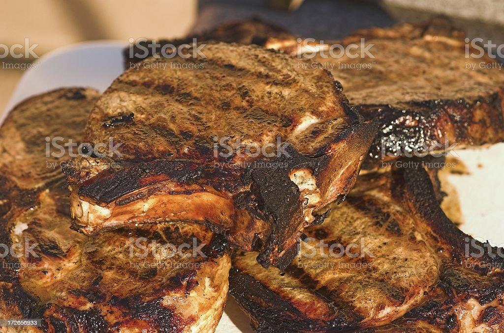 pork chops 1853 stock photo