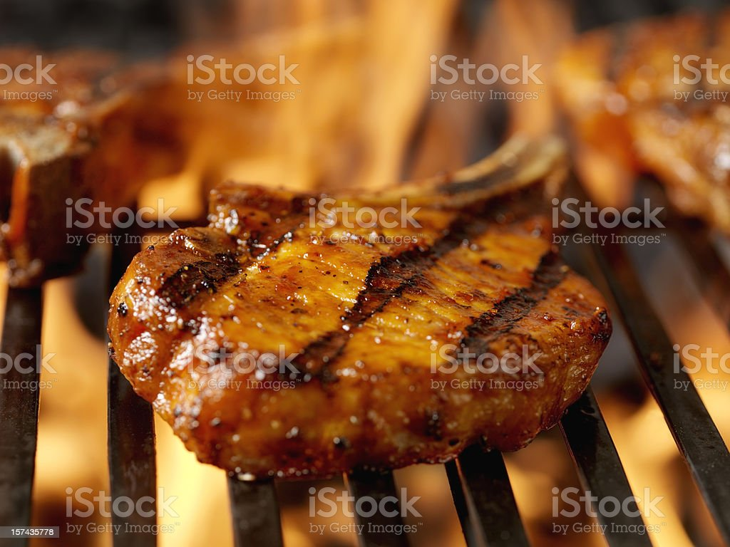 BBQ Pork Chops 3 stock photo