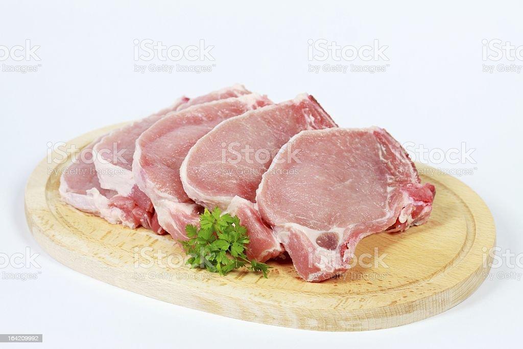 Pork chops with bones royalty-free stock photo