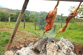 Pork Cooking with Firewood