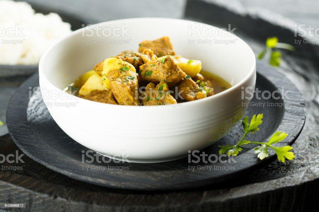 Pork curry stock photo
