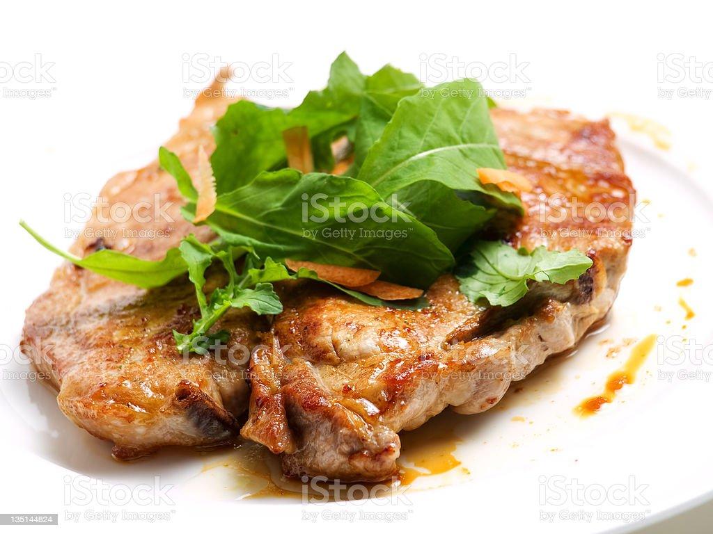 Pork cutlet royalty-free stock photo