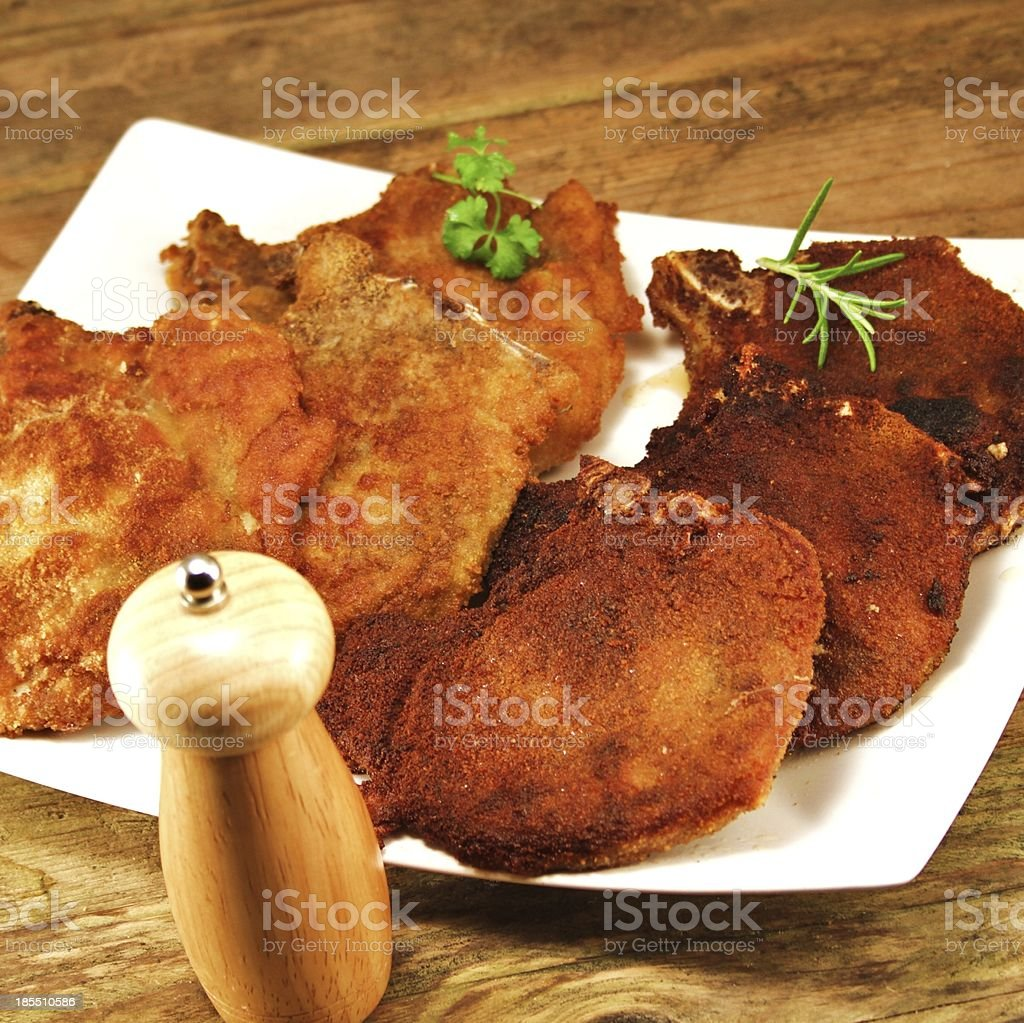pork cutlet stock photo