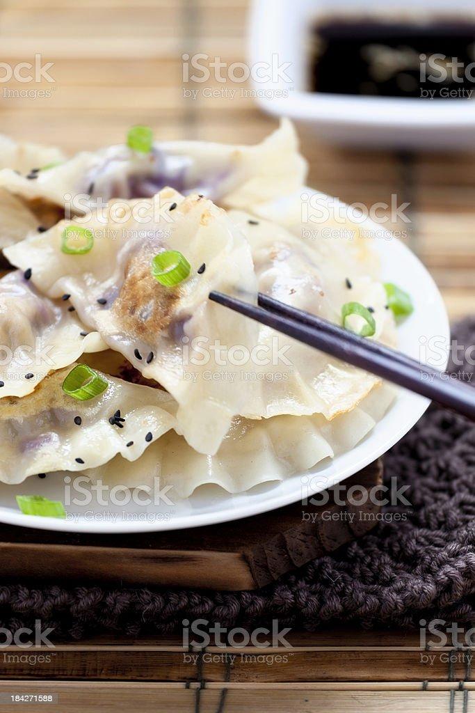 Pork Dumplings royalty-free stock photo