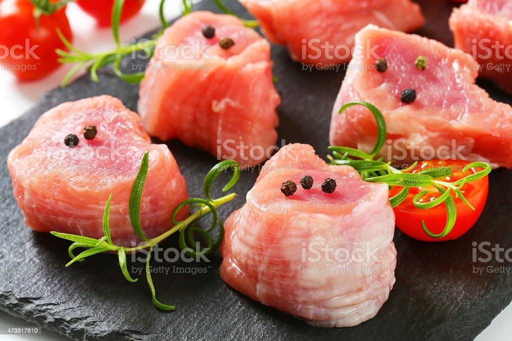 Pork Fillet Medallions stock photo