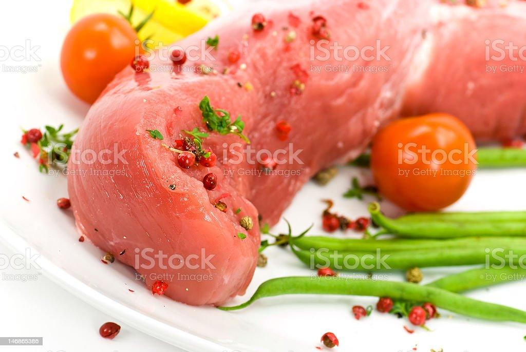 pork fillet-tenderloin , raw royalty-free stock photo