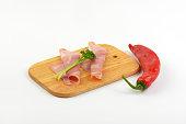 pork ham and red pepper