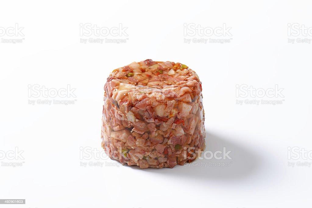 pork in aspic stock photo