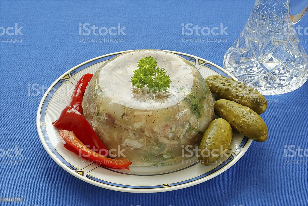 Pork jelly royalty-free stock photo